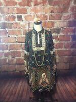 Entro Hippie Gypsy Bohemian  Shirt Top Blouse Dress Small