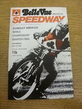 08/05/1976 SPEEDWAY programma: a BELLE VUE-SUNDAY MIRROR World Championship Q