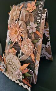 ANY AGE 3 STEP LADIES BIRTHDAY  DESIGNER GIFT CARD