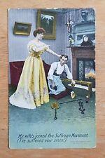 Bamforth Series. Comic postcard. 1909.