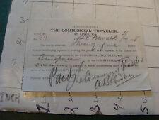 Original Billhead: THE COMMERCIAL TRAVELER st louis mo. 1898
