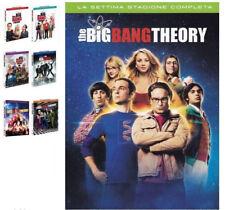 THE BIG BANG THEORY,STAGIONI 1,2,3,4,5,6,7 (22 DVD) COFANETTI SINGOLI SERIE TV