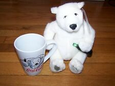 COCA-COLA TRADEMARK POLAR BEAR 1999 EXCLSV & MUG CUP CHRISTMAS HOLIDAY GIBSON