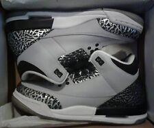 Nike Air Jordan 3 Retro BG DS 398614-004 Wolf Grey/Metallic Silver-Blk Size 5Y