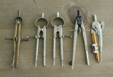 Vintage Divider Compass Drafting Tool Lot 5 Tools Riefler Germany Sp Speed Bow