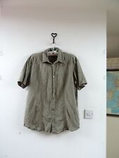Angelo Litrico for C&A pure linen brown short sleeve mans shirt L/XL chest 50