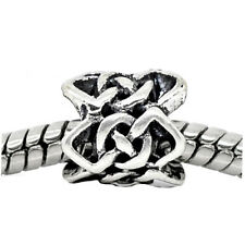 Celtic Knot Braided Crochet Pattern Spacer Bead fits European Charm Bracelets