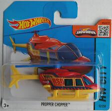 Hot Wheels - Propper Chopper Hubschrauber / Helicopter rot/gelb Neu/OVP