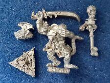 Citadel Warhammer C47 Chaos Ratmen(Skaven) Warlord Metal Oop unpainted 1990's