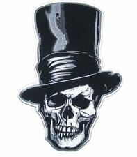 JUMBO 10 IN SKULL TALL STOVE PIPE HAT  JACKET BACK PATCH JBP85 new patches large