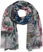 Châle pour femme avec motif abstrait à fleurs et franges, écharpe d'hiver, étole