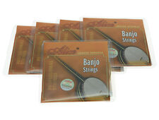 5 Sets Alice Plated Steel 4 String Banjo Strings Coated Copper Alloy Wound