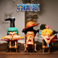 anime luffy Zoro Sanji PVC figure figures doll toy Action Collectible Model