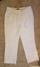 White Linen Trousers size 12 - Linea Wide Leg white trousers fully lined