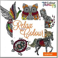 RELAX WITH COLOUR - ADULT COLOURING BOOK - ANIMAL