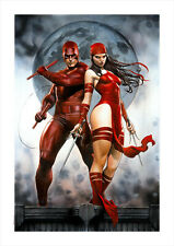 Marvel Fine Art Adi Granov Delektra (Daredevil + Elecktra) Giclee on Canvas