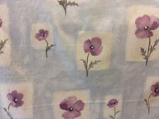 "BLUE GREY CURTAIN FABRIC 4.80m PRESTIGIOUS ""Bloom"" Grey Mauve Cotton Satin"