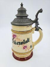 Antique Vintage Mini Beer  Stein 6.5'' T ~ 1/4 Litre