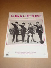 """Kinks """"All Day & All Of The Night"""" US sheet music"""