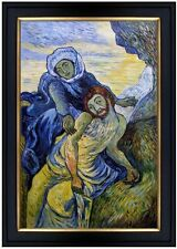 Framed, Van Gogh Pieta Repro, 100% Hand Painted Oil Painting, 24x36in