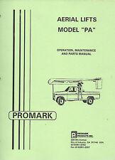 Promark Aerial Lift/Manlift/Boomlift PA Manual