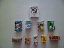 1/12 Scale - Assorted Grocery packets / boxes for dollshouse miniatures (001)