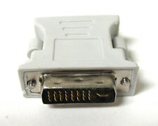 BEIGE DVI-I 24+5 Pin Male To 15 Pin VGA Female Adapter Convertor