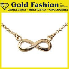Collana in argento tit 925 placcato oro Thy Italy collezione Infinity