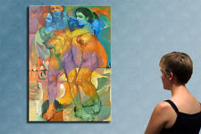 """55""""-THE ENTIRE FAMILY OF COLORS_ORIGINAL oil on canvas by CHIBRIT !!!!!!!!!!!!!!"""