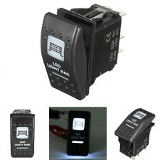 Toggle On/Off Rocker Switch LED Light Bar For Boat Can Am Maverick Commander UTV