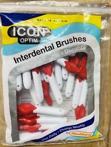 ICON Optim Interdental Brush - Red - 25 Brushes  1x Pack