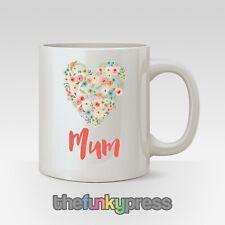 Muttertag Becher Geschenk Personalisiert Oma Mutter Blumen Herz Add Jeder Name