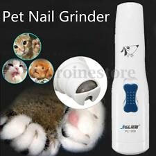 Electric Pet Dog Cat Nail Grinder Trimmer Grooming Claw Care Tool Battery Power