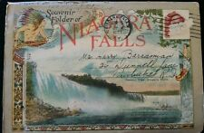 Vintage Niagra Falls Souvenir Postcard Booklet Postmarked 1927