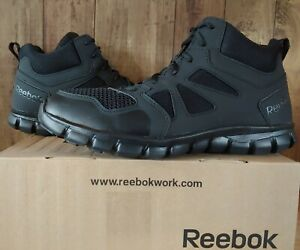 "Reebok Mens 6"" Sublite Cushion Military Tactical Boots Black Size 11.5 RB8405"
