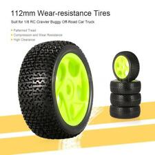 Cool 112mm Rubber Tires 17mm Hub Hex Wheel Rim for 1/8 RC Buggy Car 4X N1G2