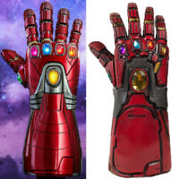 Iron Man Tony Thanos Infinity Gauntlet Gloves Avengers 4 Kids Adults COS Gift