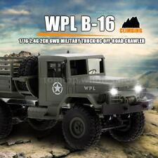 WPL B-16 1/16 2.4G 2CH 6WD Military Truck RC Off-Road Crawler Car Kids Toy W5P2