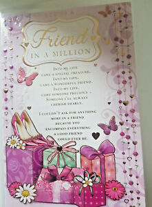 FRIENDS SPECIAL FRIENDS - FRIEND IN A MILLION - BEAUTIFUL WORDS BIRTHDAY CARDS