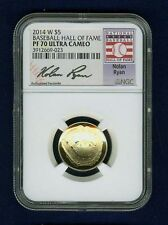 "2014 $5 PROOF GOLD COIN, BASEBALL - ""NOLAN RYAN"" HALL OF FAME,  CERTIFIED PF-70"