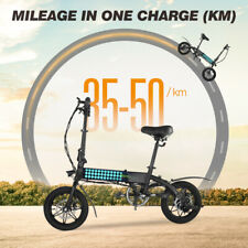 "14"" Wheels Folding Hybrid Electric Bike MTB Cycling 36V City E-bike LCD Display"