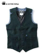 G-Star Raw RCT Ruston Gilet Vest Rence Wool Men's Size 2XL XXL Slim Fit