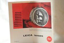 Leica Leitz lenses Summilux dealers brochure Germany