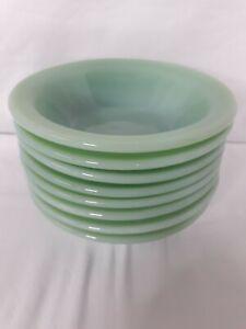 Jadeite Jadite Fire King Restaurant Ware Rim Cereal Bowls  EXCELLENT CONDITION