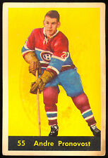 1960 61 PARKHURST HOCKEY 55 ANDRE PRONOVOST LG MONTREAL CANADIENS