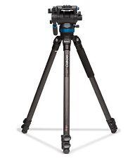 Benro C373FBS8 Carbon Fiber VideoTripod Kit w/ S8 Head - Max Load 17.6 lb