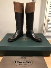 Church's Martina Black/Brown Leather Riding Boots! Size 36.5! New! Only £449.90!