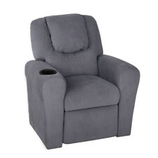 Luxury Kids Recliner Sofa - Grey