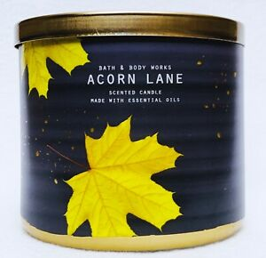 1 Bath & Body Works ACORN LANE Large 3-Wick Candle 14.5 oz
