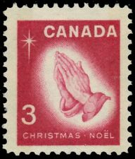 "CANADA 451p - Christmas ""Praying Hands"" W2B Tagging (pa19898)"